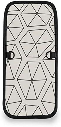 トラベルウォレット ミニ ネックポーチトラベルポーチ ポータブル 幾何柄 ダイヤモンド 小さな財布 斜めのパッケージ 首ひも調節可能 ネックポーチ スキミング防止 男女兼用 トラベルポーチ カードケース