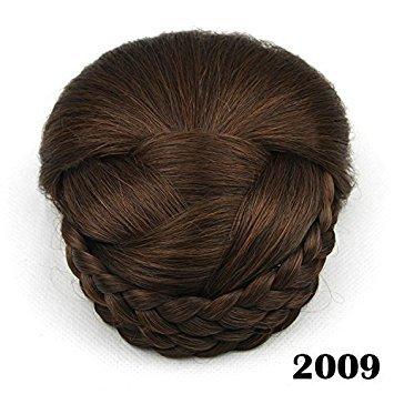 6couleurs tressé Clip de cheveux chignon–Donut Chignon Cheveux Rouleau bicolore dégradé 1pièce. Meisi Hair L. td MSbun-002