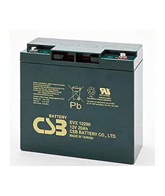 Csb Battery Blei 12v 20ah Evx 12200 Csb Akku Evx12200 Gewerbe Industrie Wissenschaft