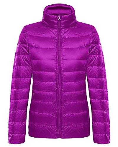 Col Taille Duvet En Ultra Manteau Violet Femme coloré S Oudan Montant Pour Compressible Noir léger EawX7xq