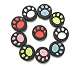 VAKABOX Cat Paw Silicone Thumbstick Joystick Caps Cover for Nintendo Switch NX NS Joy-Con Controller Joystick – 10PCS Multi Color Review