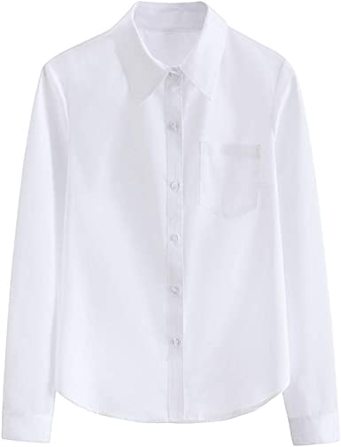Camiseta de verano para mujer, cuello puntiagudo, de manga ...
