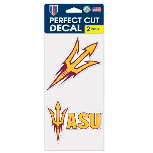 Wincraft NCAA Arizona State University Perfect Cut Decal (Set of 2), 4'' x 4''