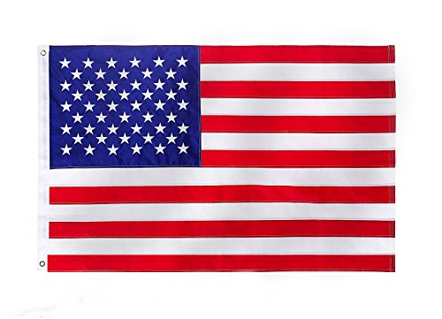 MoogiiFlag American Flag 3x5 Ft Embroidered Stars Sewn Stripes Brass Grommets 210D Quality Oxford Nylon