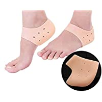 Acupressure Silicone Gel Heel Pad Socks For Heel Swelling Pain Relief,Dry Hard Cracked Heels Repair Cream Foot Care Ankle Support Cushion - For Men And Women - (Free Size) (1 Pair)