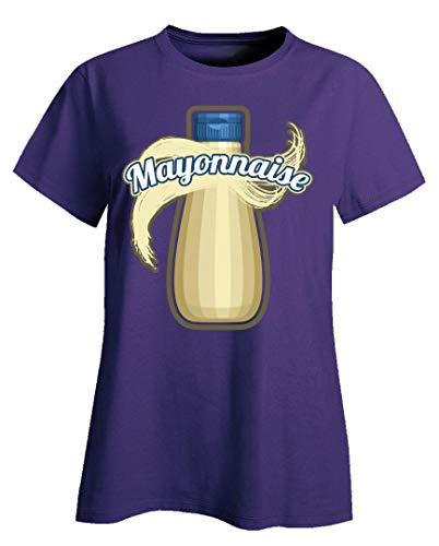 Mayonnaise Condiment Easy Trio Halloween Costume Tshirt - Ladies T-Shirt Purple -