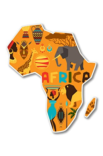 (Africa Vinyl Sticker - Car Phone Helmet - SELECT SIZE)
