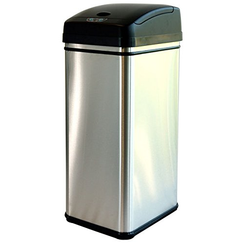 iTouchless 13-gallon Deodorizer Filtered Stainless Steel Sensor Trash Can (Slim Trash Can With Lid 13 Gallon compare prices)
