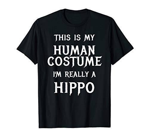 (Hippo Halloween Costume Shirt Easy Funny Party Shirt)