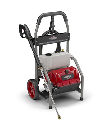 Briggs & Stratton Electric Pressure Washer 1800 PSI 1.2 GPM with 20-Foot High Pressure Hose, Turbo Nozzle & Detergent Tank by Briggs & Stratton