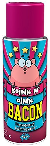 Wet Lubricant Boink N' Oink Bacon Flavored Lube, 4 Ounce by Wet Lubricant by Boink N' Oink