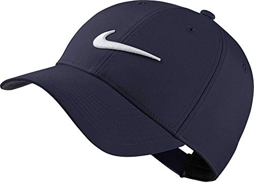 Nike Unisex Legacy Golf Cap, Adjustable & Lightweight Hat for Men and Women, Obsidian/Anthracite/White