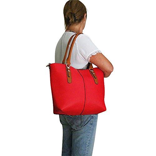 Chapeau-tendance, Borsa a spalla uomo rosso rosso
