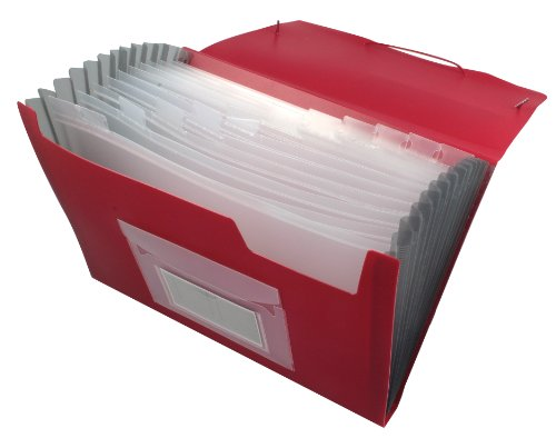Q-Connect Fächermappe 13-pocket Datei KF01274-Rot, 1Stück