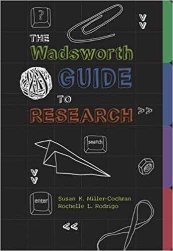 Buy The Wadsworth Guide to Research Book Online at Low Prices in