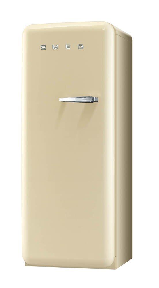 A++ Linksanschlag Smeg FAB28LP1 Standk/ühlschrank 248 L Creme mit integriertem Gefrierteil