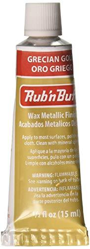 AMACO Rub 'n Buff Wax Metallic Finish, Grecian Gold, 0.5-Fluid Ounce ()