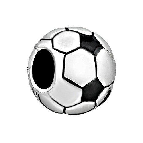 ReisJewelry Love Sports Charms Soccer Mom Baseball Football Charm Beads For Bracelets (Football) (Soccer Mom Charm)