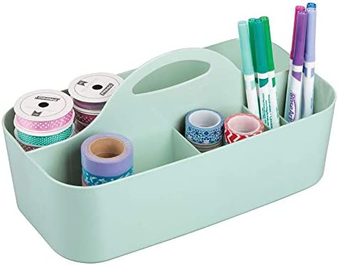 mDesign Plastic Portable Organizer Supplies product image