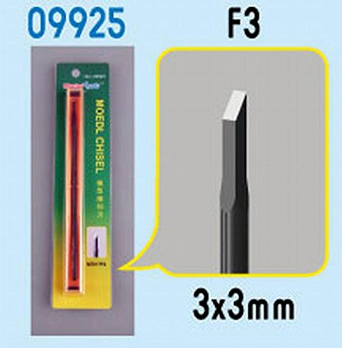 Micro Chisel Tip (Trumpeter Model Micro Chisel: Square Tip, 3 x 3mm)