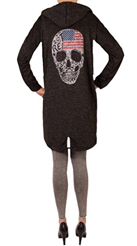 Skull Gilet Usa YOU WANT Schwarz FASHION Femme EHIpq