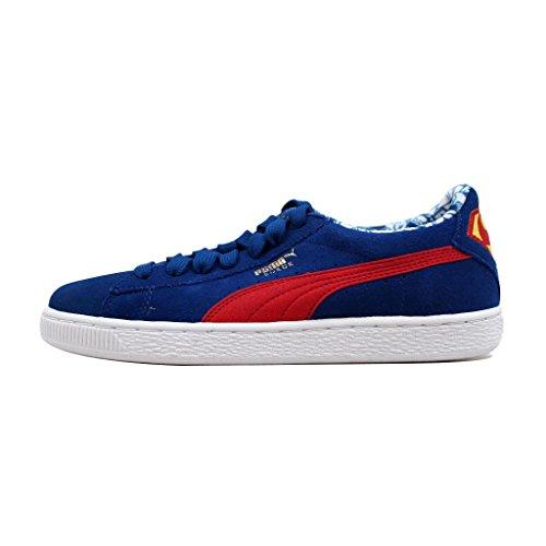 PUMA Boys' Suede Superman Jr Sneaker, Limoges/High Risk RE, 6.5 M US Big Kid