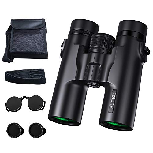 10x42 Binoculars for Adults, AUCEE HD Compact Binoculars for Bird Watching Hunting Hiking Travel Camping Waterproof Professional Binoculars for Concerts Football Sports-BAK4 FMC Roof Prism Binoculars
