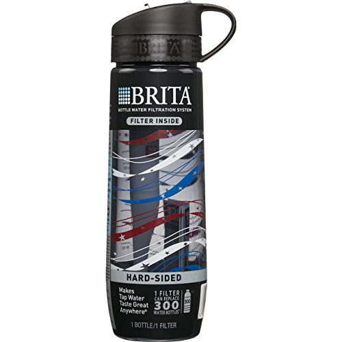 Brita Filtered The best quality Bottle (includes 1 Filter), Hard Sided, BPA Free, Americana, 23.7 Ounces