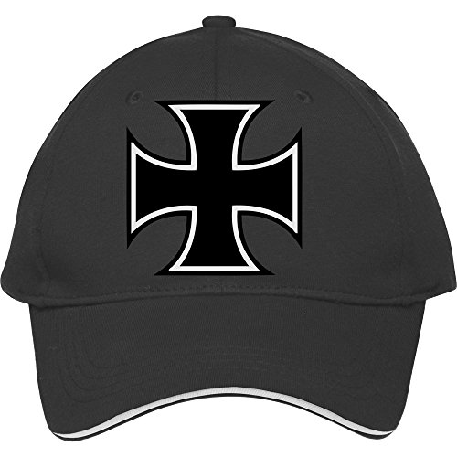 New Fashion Iron Cross Baseball Cap Snapback Hat Black Male/female Cotton - Iron Cross Hat Cap