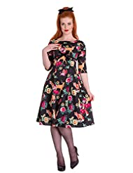 Hell Bunny Hermeline Vintage Retro 50's Style Animal Fox Print Tea Dress
