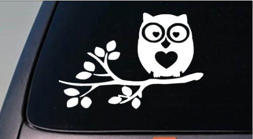 Amazon com owl sticker decal car d735 window vinyl laptop college girl love owl sticker decal 6 arts crafts sewing
