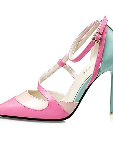 cn35 uk4 eu36 uk4 pink us6 cn36 eu36 Casual de eu36 Tac¨®n Negro ZQ 5 Rosa Azul us5 uk3 Tacones Zapatos pink mujer 5 Tacones us6 black cn36 PU Stiletto OHx7fR