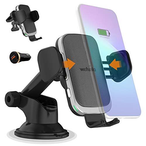 15W Fast Wireless Car Charger, Wireless Charging Car Mount Holder Dock Compatible with iPhone 12/ Samsung Note 20