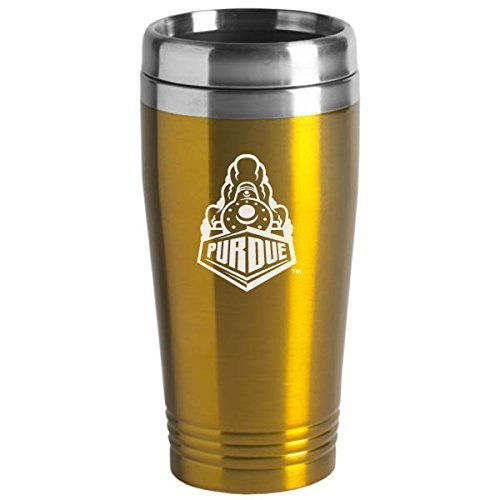 Purdue University - 16-ounce Travel Mug Tumbler - Gold