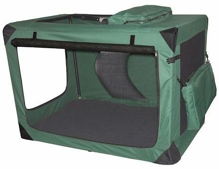 Generation II Deluxe Portable Soft Dog Crate in Moss Green - Extra Large