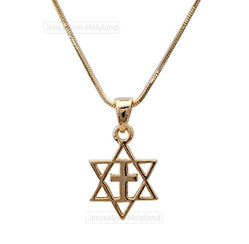 FASHION Crucifix Unisex Messianic Star of David and CROSS...