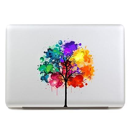 LoveDecalHome macbook adhesivo colores árbol macbook parcial de la ...