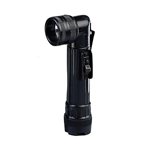 Rothco Army Style C-Cell Angle-Head Flashlight - Black ()