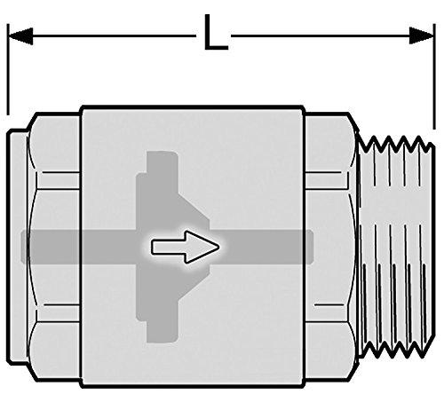 R/ückschlagventil//Schwerkraftbremse 3//4 Zoll Innengewinde zu Au/ßengewinde Solar