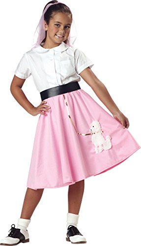 [Poodle Skirt - Child Costume - Small Pink (6-8)] (Sock Hop Costume Ideas For Men)