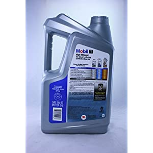 Mobil 1 High Mileage Advanced Full Synthetic 5W-30 Motor Oil 5 Quart - Jug