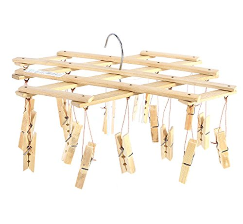 DRAGON SONIC Bamboo Drying Racks Multi-function Anti-slip Un