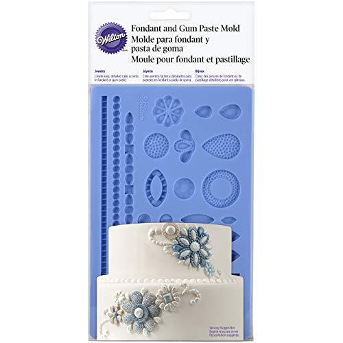 (Wilton 409-2528 Wedding Jewelry Fondant Mold, Blue)