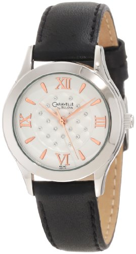 Caravelle by Bulova Women's 43L142 Strap Watch with Rose Gold Dial Markers Watch
