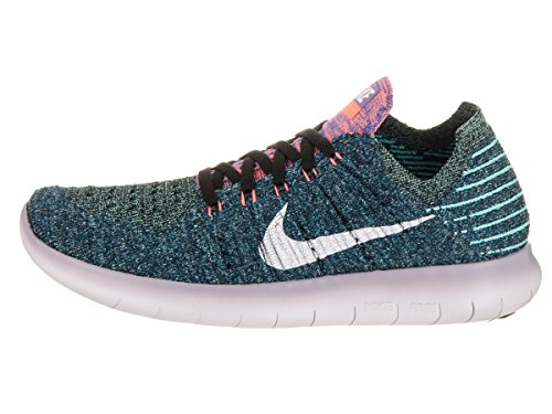 Flyknit Black 8 US 5 6 Shoe Women's Rn 40 UK White Nike Bright EUR Mango Running Free ZtxUI