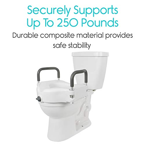 Magnificent Vive Raised Toilet Seat 5 Portable Elevated Riser With Padded Handles Elongated And Standard Fit Commode Lifter Bathroom Safety Extender Pdpeps Interior Chair Design Pdpepsorg