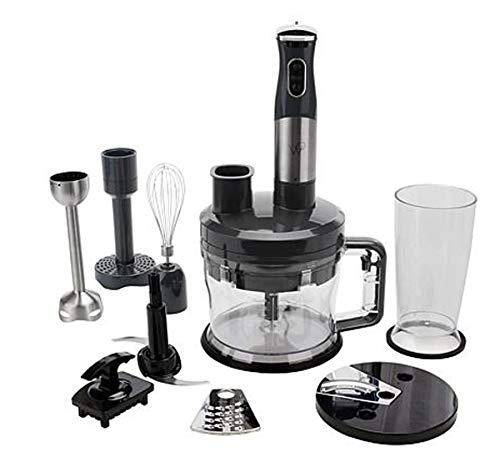 Wolfgang Puck 12-Cup Food Processor with Immersion Blender~ 7-in-1 (Black) (Food Puck Processor Wolfgang)
