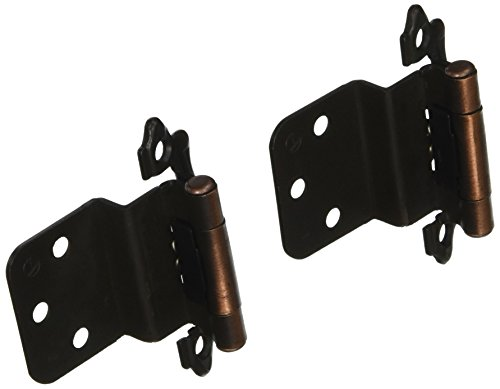 Amerock BPR7328AC Self-Closing, Face Mount Hinge with 3/8in(10mm) Inset - Antique Copper