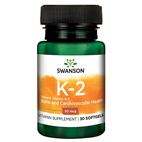 Swanson Natural Vitamin K2 (Menaquinone-7 from Natto) 50 mcg 30 Sgels