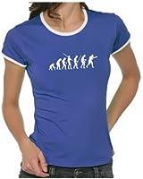 Coole-Fun-T-Shirts Damen T-shirt Boxen Evolution ! Ringer